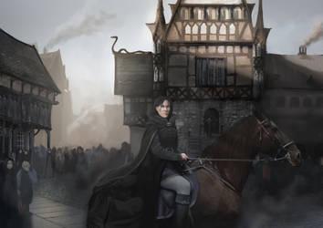 Arrival at Grundir by FantasyMaker