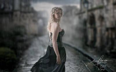 Rain, close up by FantasyMaker