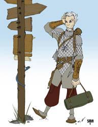 Otoniel - Half elf Cleric by MunkenDronkey