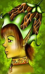 Elf...er...Nymph thingy... by BleedingRayne