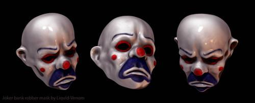 Joker robber mask sculpt by liquid-venom