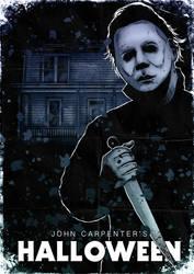 Michael Myers Halloween Poster by liquid-venom