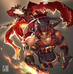 Sol Badguy + Dragon Install by na-insoo