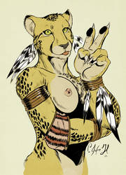 Peace cheetah by Crisjofreart