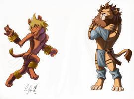 Cartoon lions by Crisjofreart