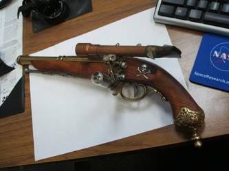 Steampunk Flintlock Pistol by Frijoleluna