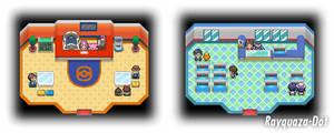 Pokemon Center and Pokemart Revamp by Rayquaza-dot