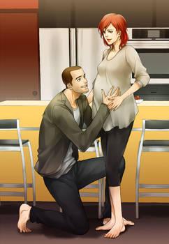 Mass Effect 3: Expecting a little Shepard by YukiMinamoto