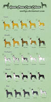 Great Dane Coat Colors - Adoptables (closed) by Anellyz