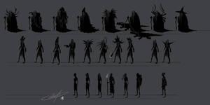 Witch Concept Thumbnails by AlexDRomero
