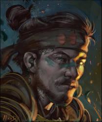 Samurai Character 1 by AlexDRomero