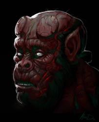 Hell Ape by AlexDRomero