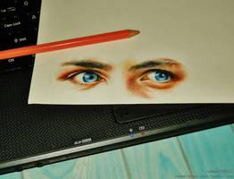 Percy Jackson's eyes by rommeldrawlines-12