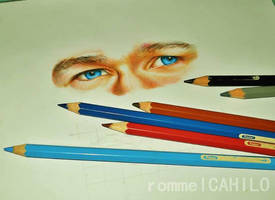 Augustus Waters' eyes by rommeldrawlines-12
