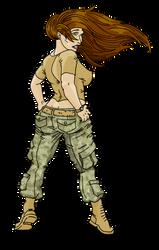Army Girl by thegreatdestroyer