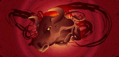 Zodiac Taurus by eosvector