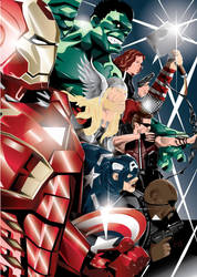 Avengers Assemble! by eosvector