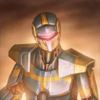 Cyborg portrait by Ebondreamer