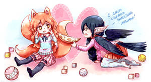 Crow and the Fox)  And Valentine's Day) by KazeAi7
