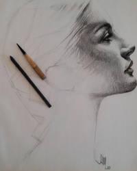 Charcoal portrait by Jamesonarts