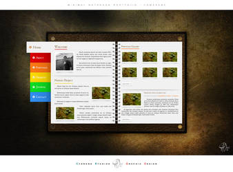 Notebook Portfolio Homepage by NedLand