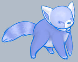 Blue red panda by Ferne-M