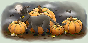 Hallow Kitty by Ferne-M