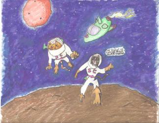 Space cats by ZubenegenubiPress