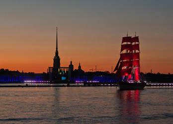 Scarlet Sails in St.Petersburg by 1925Filatov