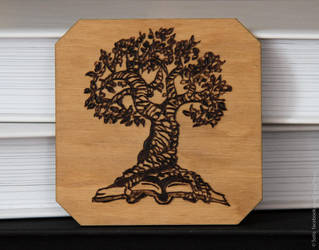 Wooden trivet: Ancient Tree Ex Libris. by 1925Filatov