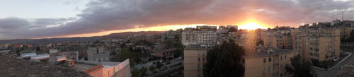 Sunset Panorama view by walid2687