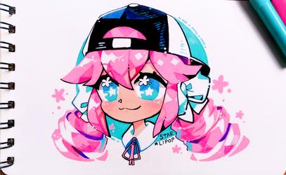 Pink Curls by Starlipop