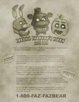Freddy Fazbear's Pizza Ad by Mic-Roe-Pony