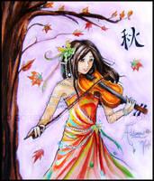 Autumn : Viola by Sorelliena