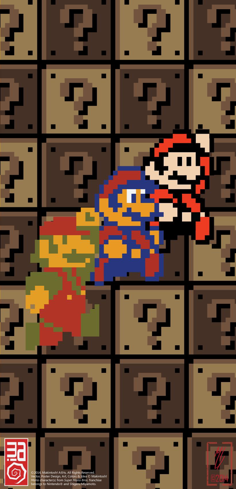 Super Mario Bros. Poster#1 by Makintosh91