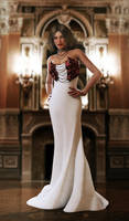 white ballroom dress by SaphireNishi