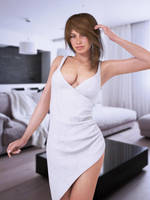 irregular pleated mini dress by SaphireNishi