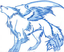 Blizzard - The Ice Wolf by Downpourpony