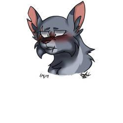 Moonstar blushing by Arcticwolf39905