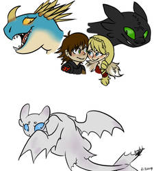 HTTYD 3 sketches by Arcticwolf39905