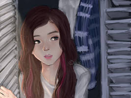 Jisoo of BP(Screenshot Re-draw)+Timelapse Vid by owlivi