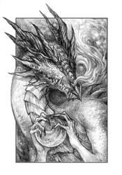 Dragon Portrait by bluessence