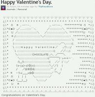 Happy Valentine's Day. ASCII art by fujihayabusa