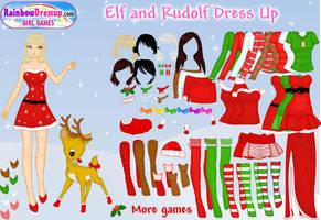 .: Elf and Rudolf DressUp :. by tanya1