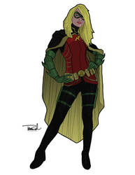 Stephanie Brown as Robin by tsbranch