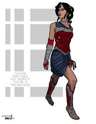 Bare-footed Wonder Woman by tsbranch