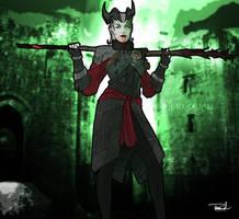 Dragon Age: Inquisition-Female Qunari Mage by tsbranch