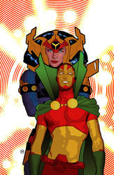 Mr. Miracle and Big Barda by tsbranch