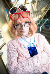 Mirai Kuriyama: The Glasses Type by Seena-Cha
