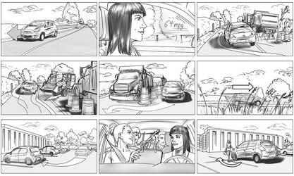 Car commercial all frames by Leeahd